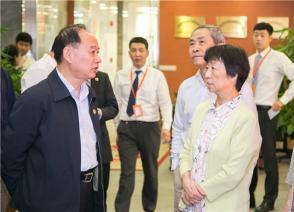 上海化工行业协会和上海市进出口商会领导莅临国烨跨境参观指导
