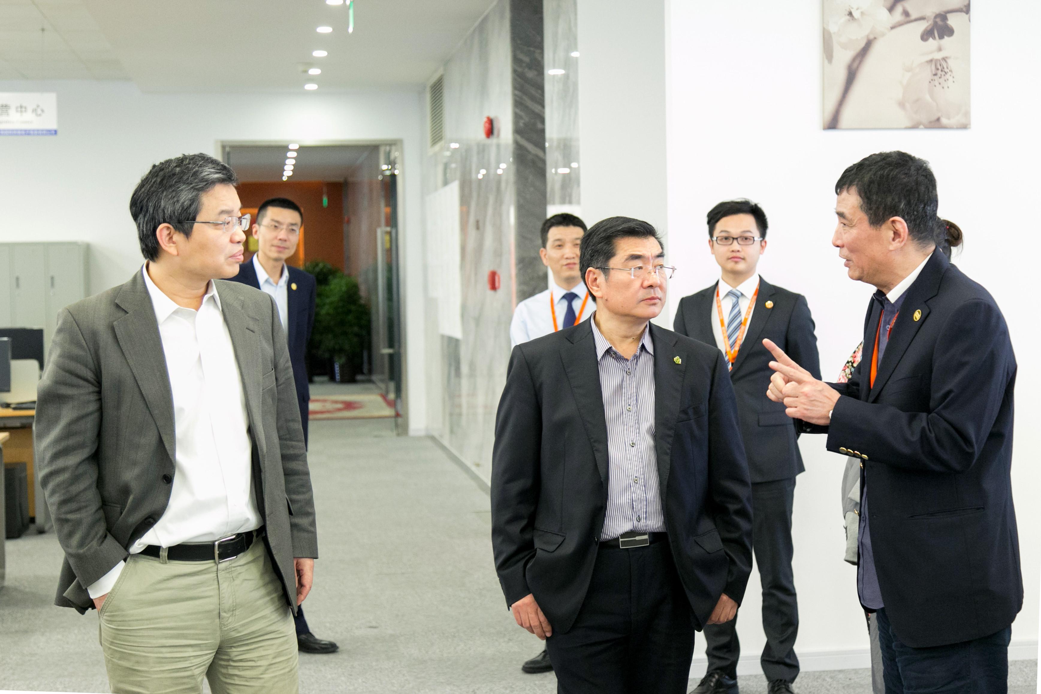 中国石油和化学工业联合会傅向升副会长一行莅临国烨指导工作