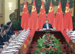 Xi meets DPRK's WPK friendship visiting group