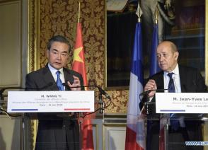 China, France agree on