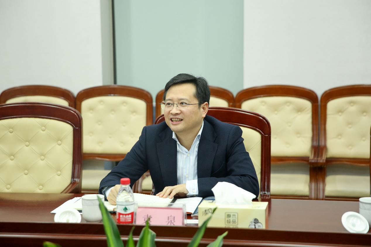 上海市虹口区袁泉副区长一行莅临国烨集团调研指导工作